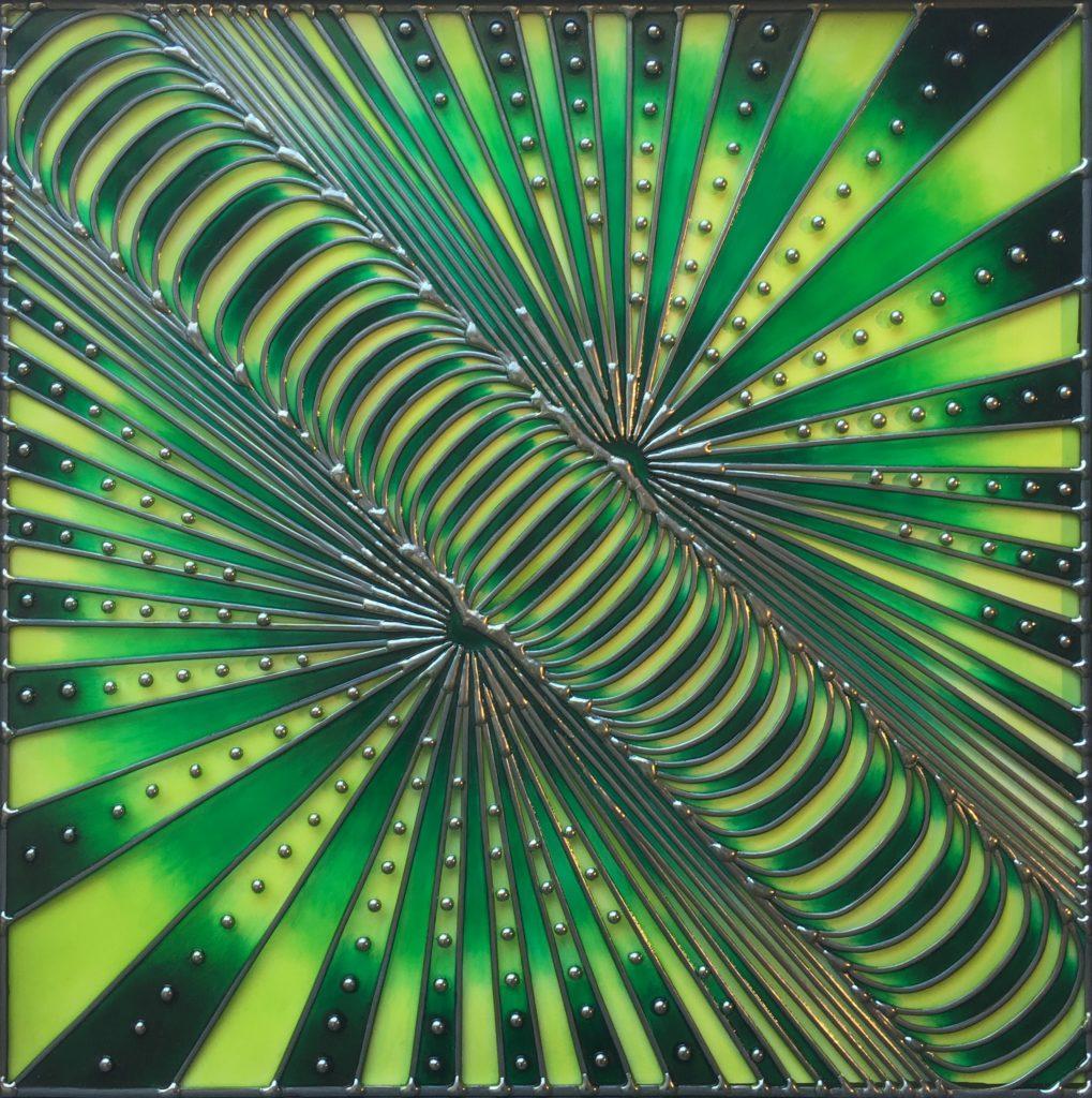 """""""Lever les yeux"""" Thème de l'œuvre:  Energies 50cm X 50cm, 2019"""