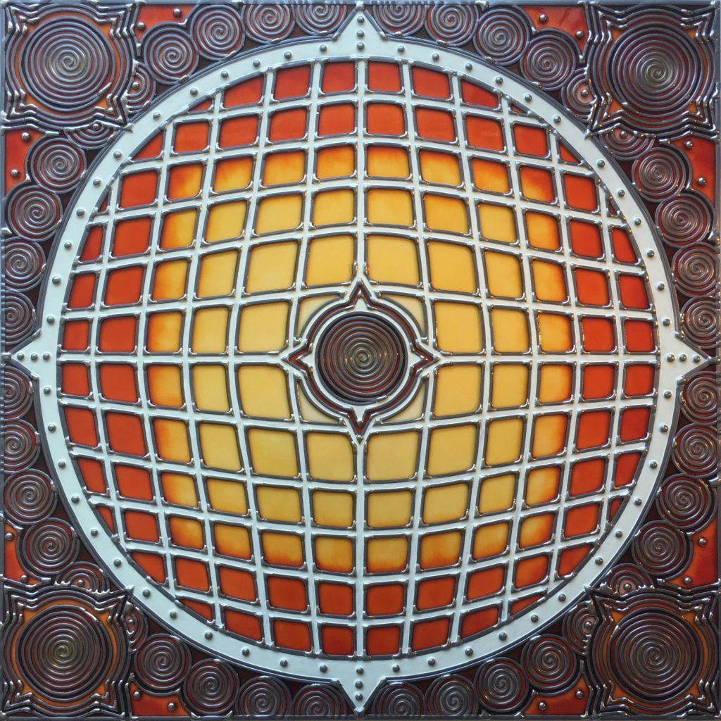 """""""Aka"""" Thème de l'œuvre:  Red planète 60cm X 60cm, 2019"""